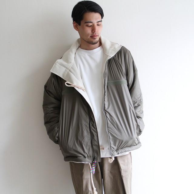 is-ness【 mens 】reversible pullover fleece jacket
