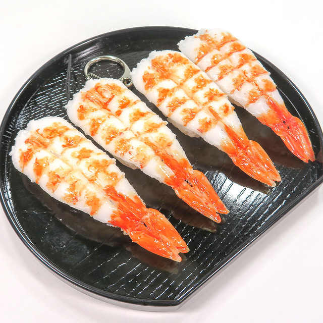 えび握り 寿司 食品サンプル キーホルダー ストラップ マグネット