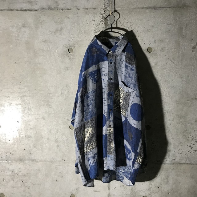 [used]mosaic mode blue shirt