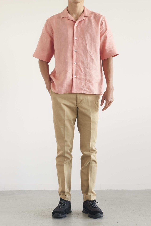 JAMES MORTIMER open collared shirt