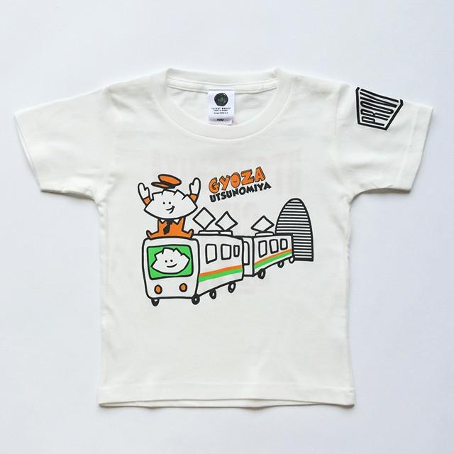 Tシャツ キッズ 駅長 GYOZA ホワイト