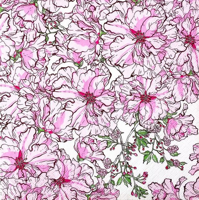 北欧【havi】バラ売り1枚 ランチサイズ ペーパーナプキン Kirsikkajuhla サクラ Designed by Nuppu