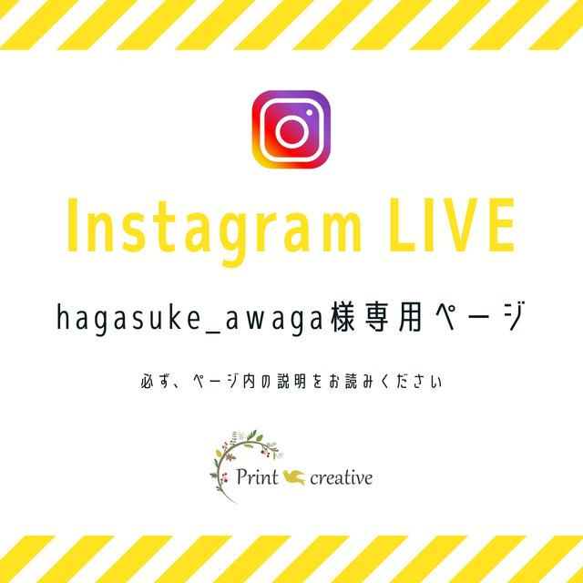 hagasuke_awaga様専用★Instagram LIVE販売お手続きページ