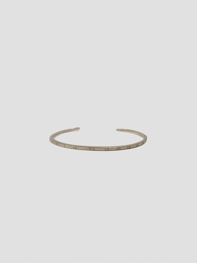 MAISON MARGIELA Calendar LOGO Bracelet Palladio Semi Polished SM1UY0030