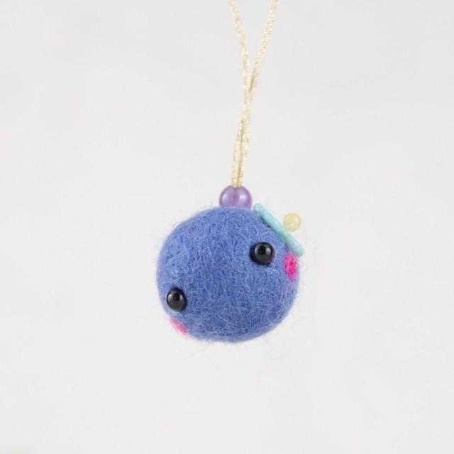 癒し♪草花cororin(紫色・ストラップつき)