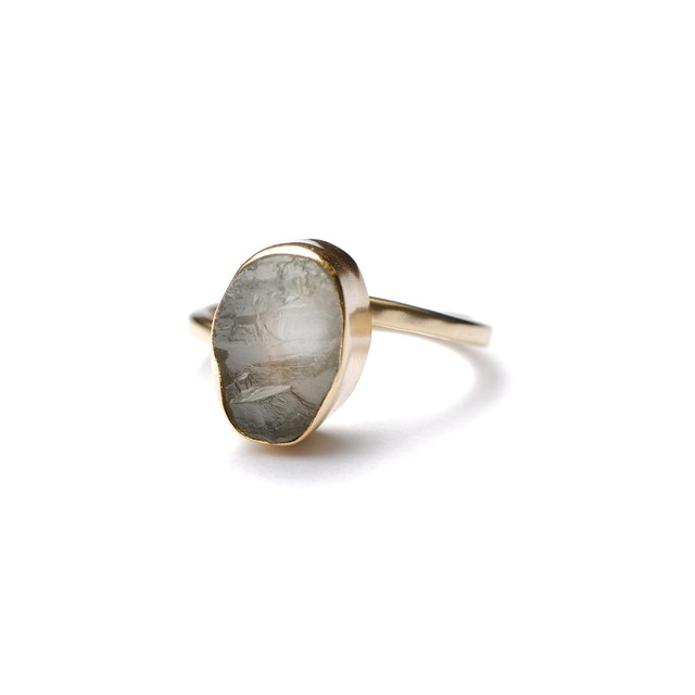 ROUGH STONE RING GOLD 022