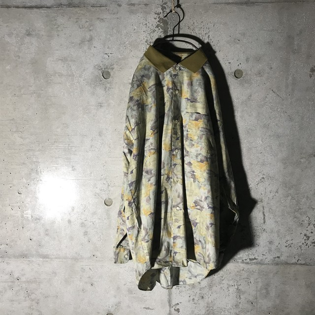 [used]collar switching shirt