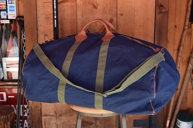 USED 80s L.L.Bean Canvas Duffle Bag B0540