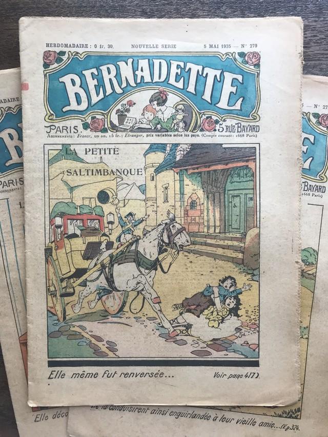 ー BERNADETTE 5 Mai 1935  № 279 -  フランスヴィンテージ
