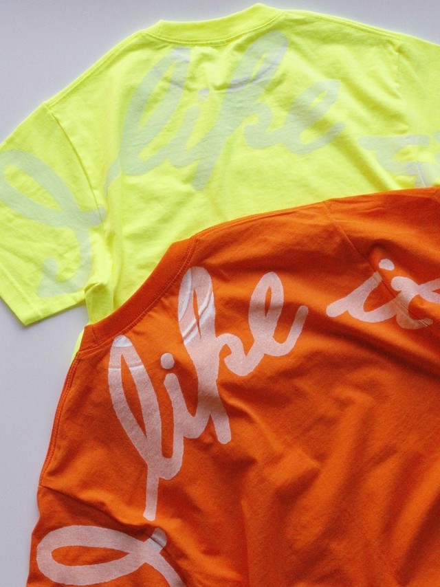 EZ DO by EACHTIME. I Like It Tee Safety Green,Safety Orange