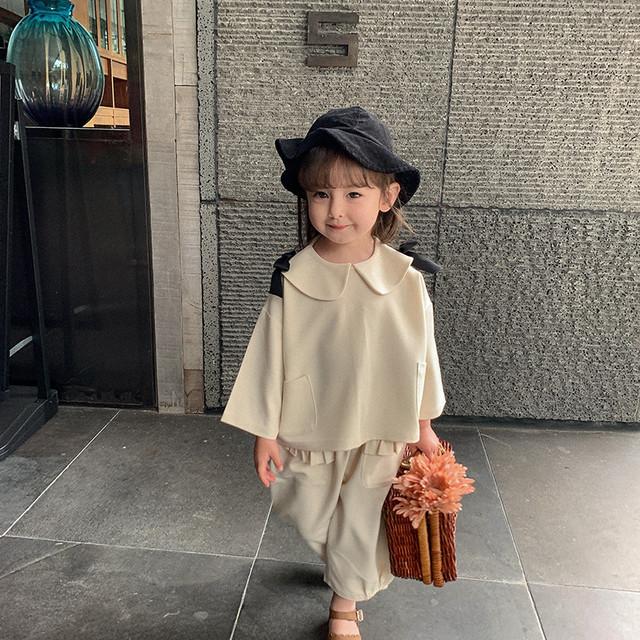 【先行予約】襟付き ビック襟 セットアップ シックカラー 子供服 春 秋 SS