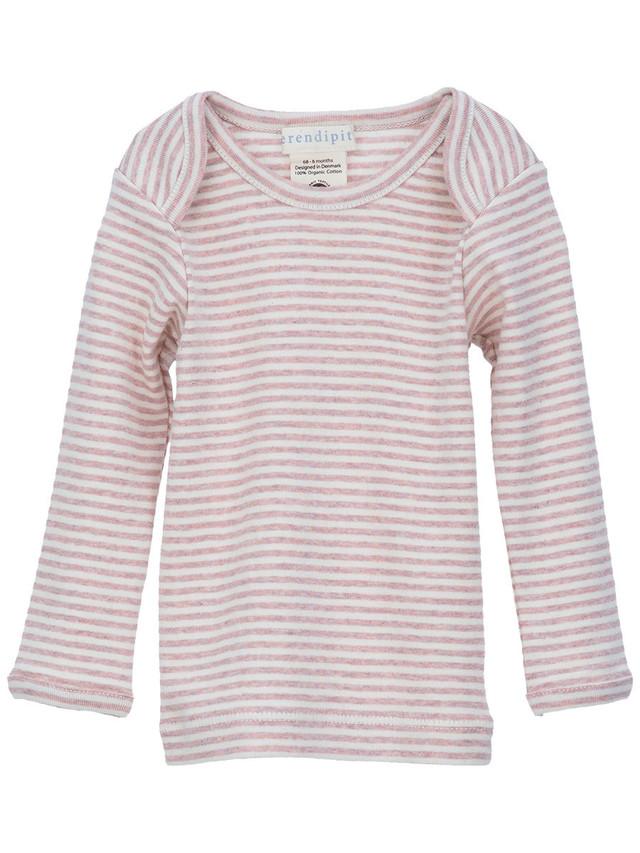 serendipity ORGANICS (ベビー)ストライプロングTシャツ(長袖) オーガニックコットン