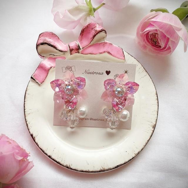 heart flower♡blooming pink