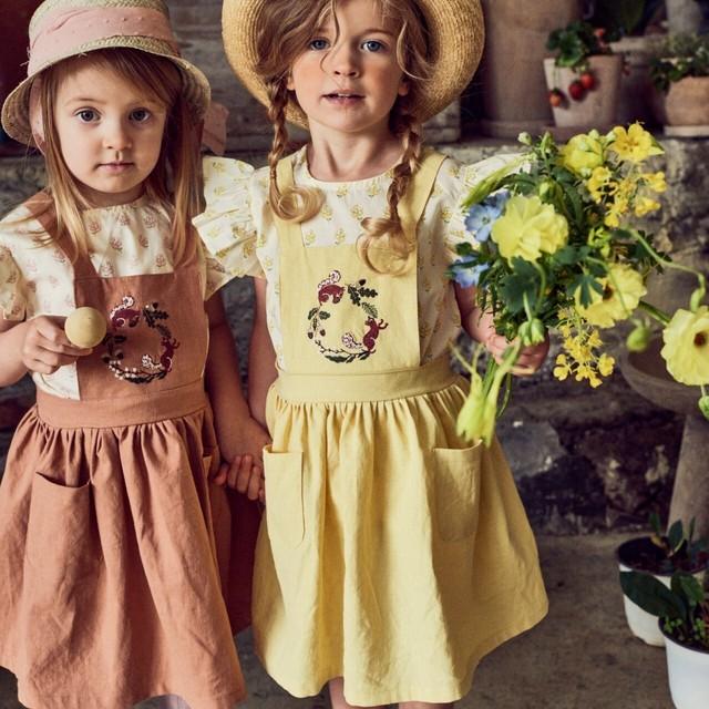 *5/11-15 新商品10%off【新作予約】【pourenfant】Lamy Suspenders Skirt