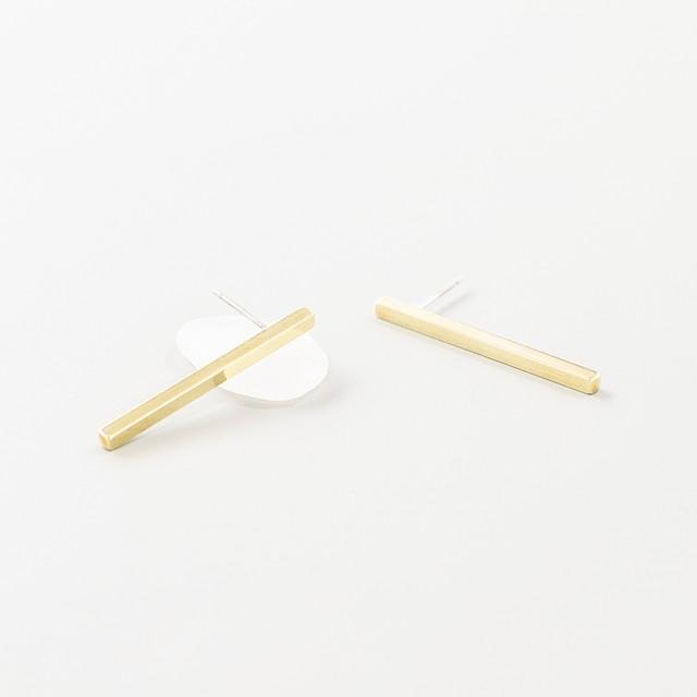 brass   pierce【 plain ・ bar 3cm 】
