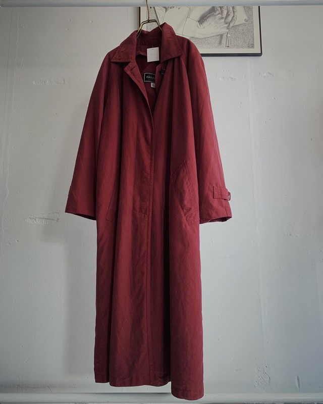 vintage long trench coat