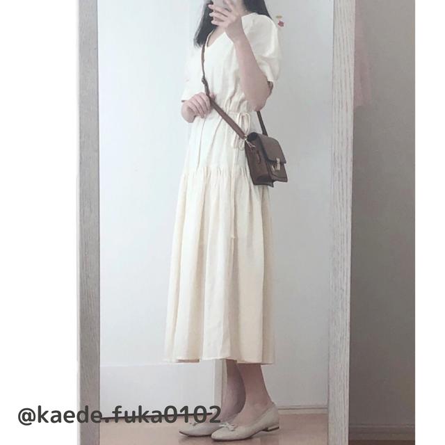 〈@kaede.fuka0102様/149cm着用〉ティアードサマードレス