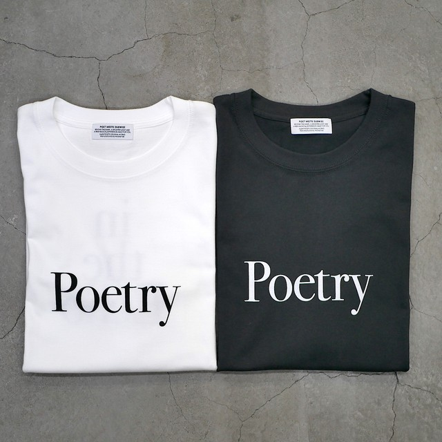 【NEW STYLE】SILENT POETS / T-SHIRTS(POETRY IN THE ECHO)
