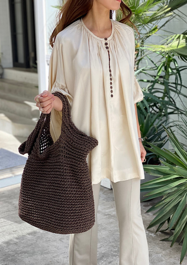 Front button volume tunic