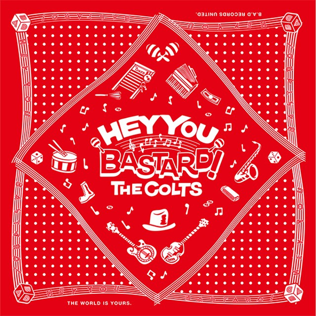 ★THE COLTS・オリジナル「HEY YOU BASTARD!」バンダナ RVCG-12