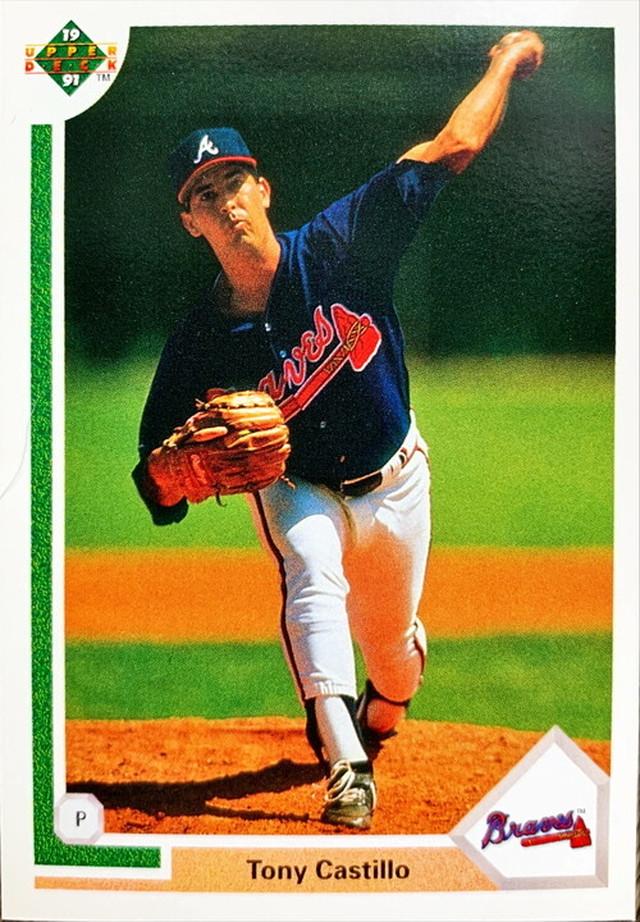 MLBカード 91UPPERDECK Tony Castillo #458 BRAVES