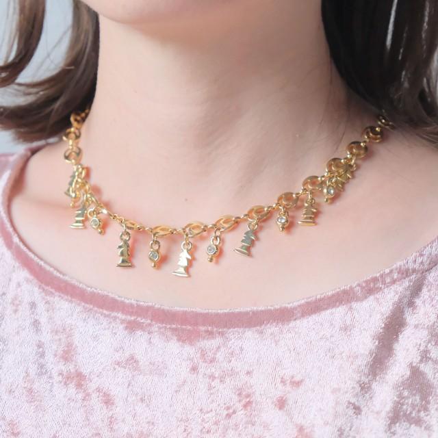 90s Chunky Vintage Necklace 2 5
