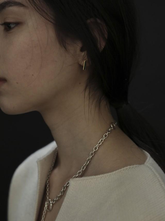 multi double chain necklace silver