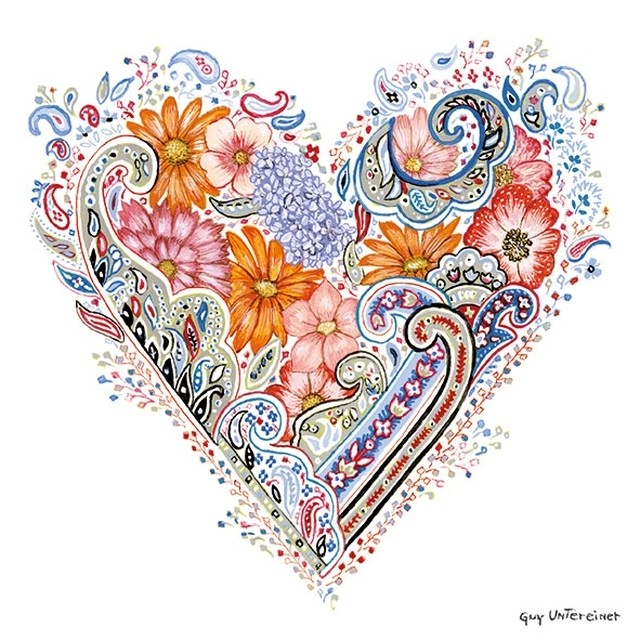 完売再入荷【Ambiente】バラ売り2枚 ランチサイズ ペーパーナプキン SPRING HEART ホワイト
