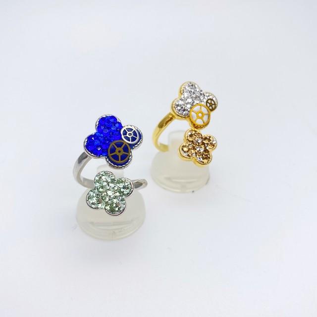 【サイズ調節可能】リング(Flower)