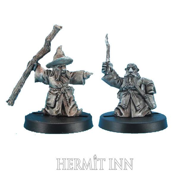 ドワーフの魔術師と弟子(2体) - メイン画像