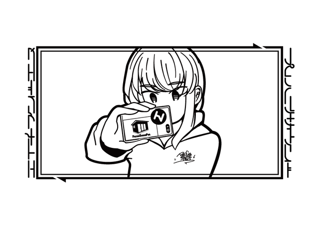 【HNN × Prefabric】Selfie Girl Tee  【From HNN】 - メイン画像