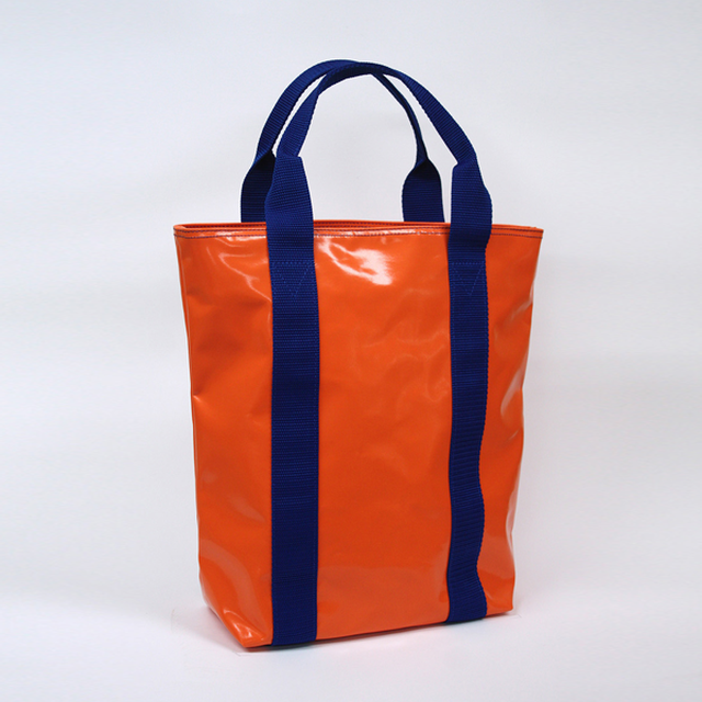 トートバック オレンジ/ブルー