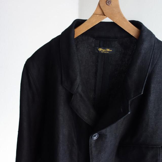 classic farmers heavylinen tailor jkt / black