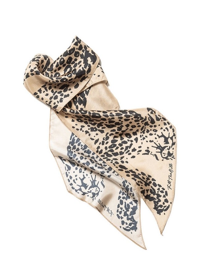 【FILL THE BILL】LEOPARD SILK SCARF