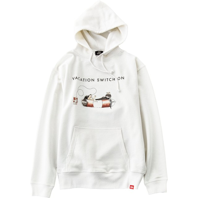 WAVE ON VACATION HOODIE [OFF WHITE]