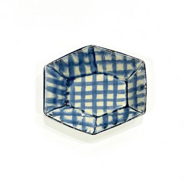 チェック 六角小鉢