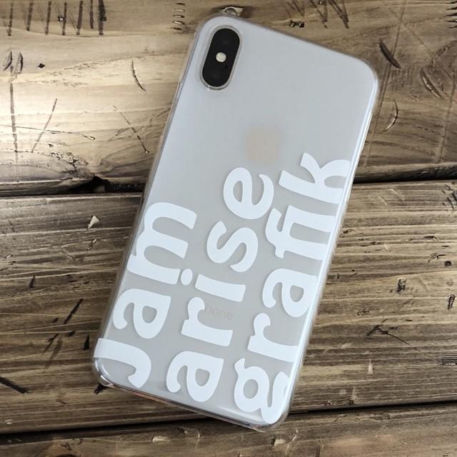 iPhoneケース for X ホワイトロゴ