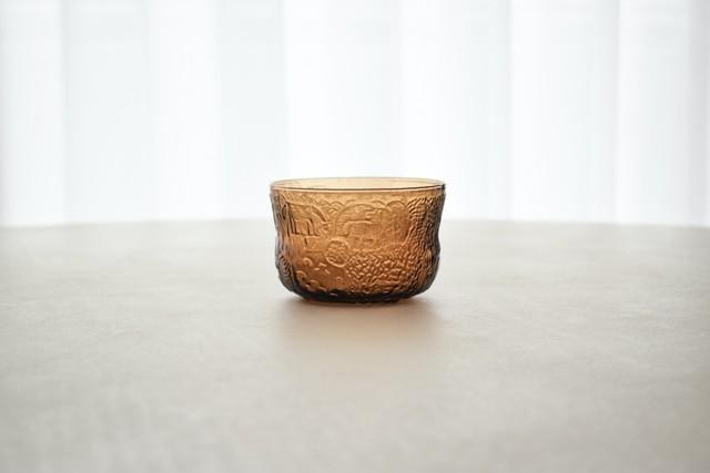 Nuutajarvi Fauna dessert bowl brown(Oiva Toikka)