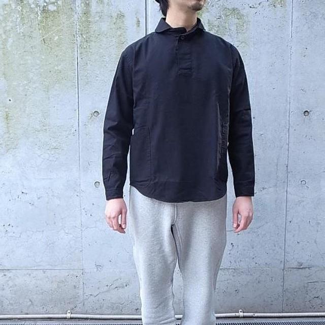 LOLO(ロロ) 定番プルオーバーシャツ ブラック LS-3