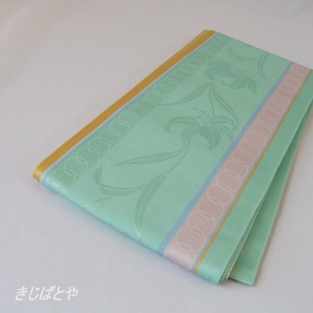 正絹紬 更紗縞の半幅帯