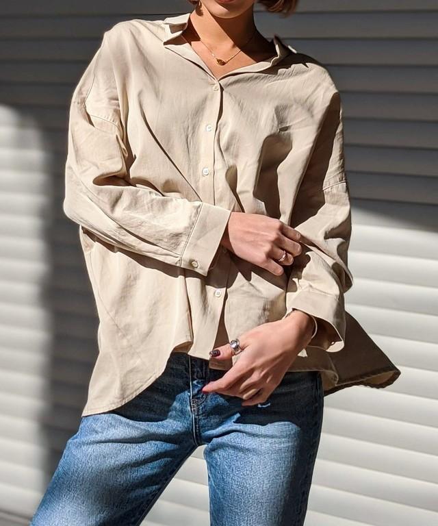 オープンルーズシャツ