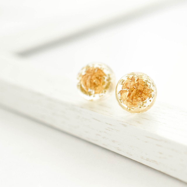 Resin gold Leaf Dome Pierces