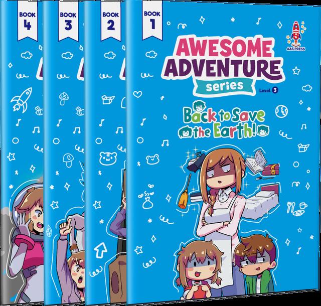 """【セット】Awesome Adventure Series """"Back to Save the Earth!"""" - Textbooks Only /教科書セット"""