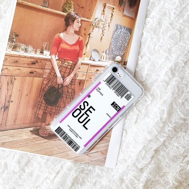 iPhone ケース 韓国 チケットデザインクリアケース SEOUL 個性的 クリア 透明 シンプル  ケース 可愛い おしゃれ  iPhone7/8 iPhoneX/Xs iPhoneXR iPhoneXsMAX iPhone11 iPhone11Pro iPhone11ProMAX スマホケース 携帯ケース