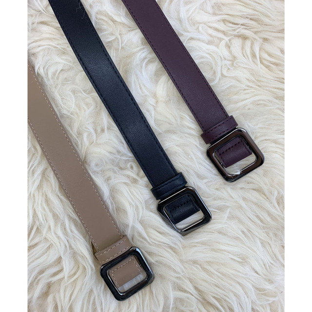 ZURI ・Simple Thick Belt(0W48033H)