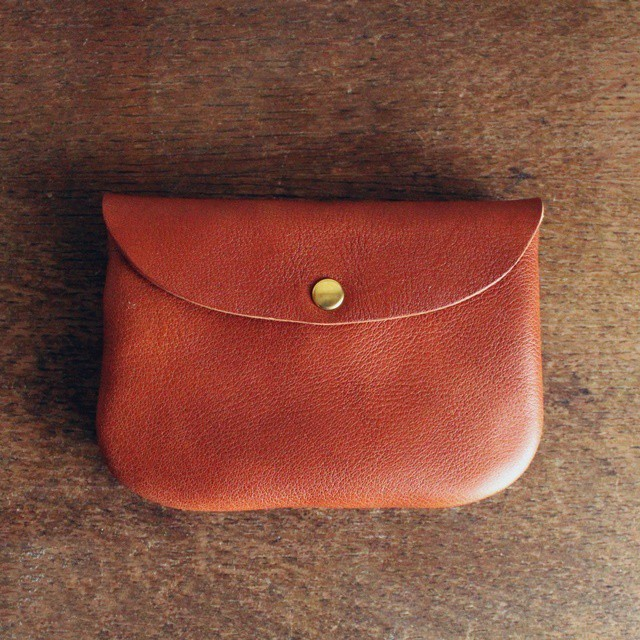 ■【 牛革のcoin purse pocket 】【S】natural/brown