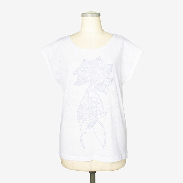 プリントヘザーTシャツ パドマ6 Print heather T-shirt Padma6