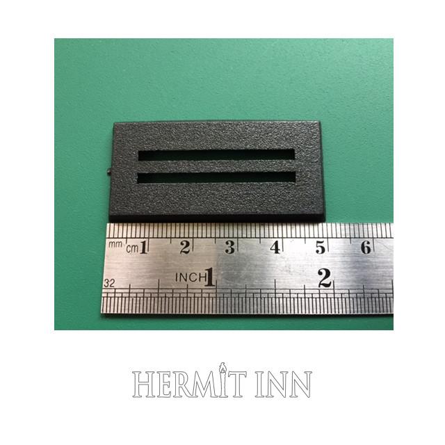 25x50ミリ プラ製長方形ベース(5枚) - メイン画像