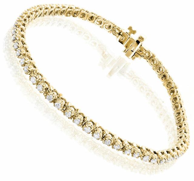 ROUND DIAMOND TENNIS BRACELET 10K GOLD 1.5CT