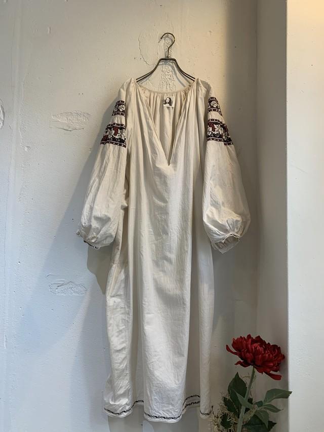 """ SOROCHKA "" antique linen&cotton embroidery dress"